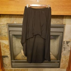 Zara Woman High-Low Black Skirt